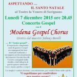 Concerto gospel 7 dicembre 2015