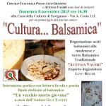 Degustazione balsamico Acetaia Valeri