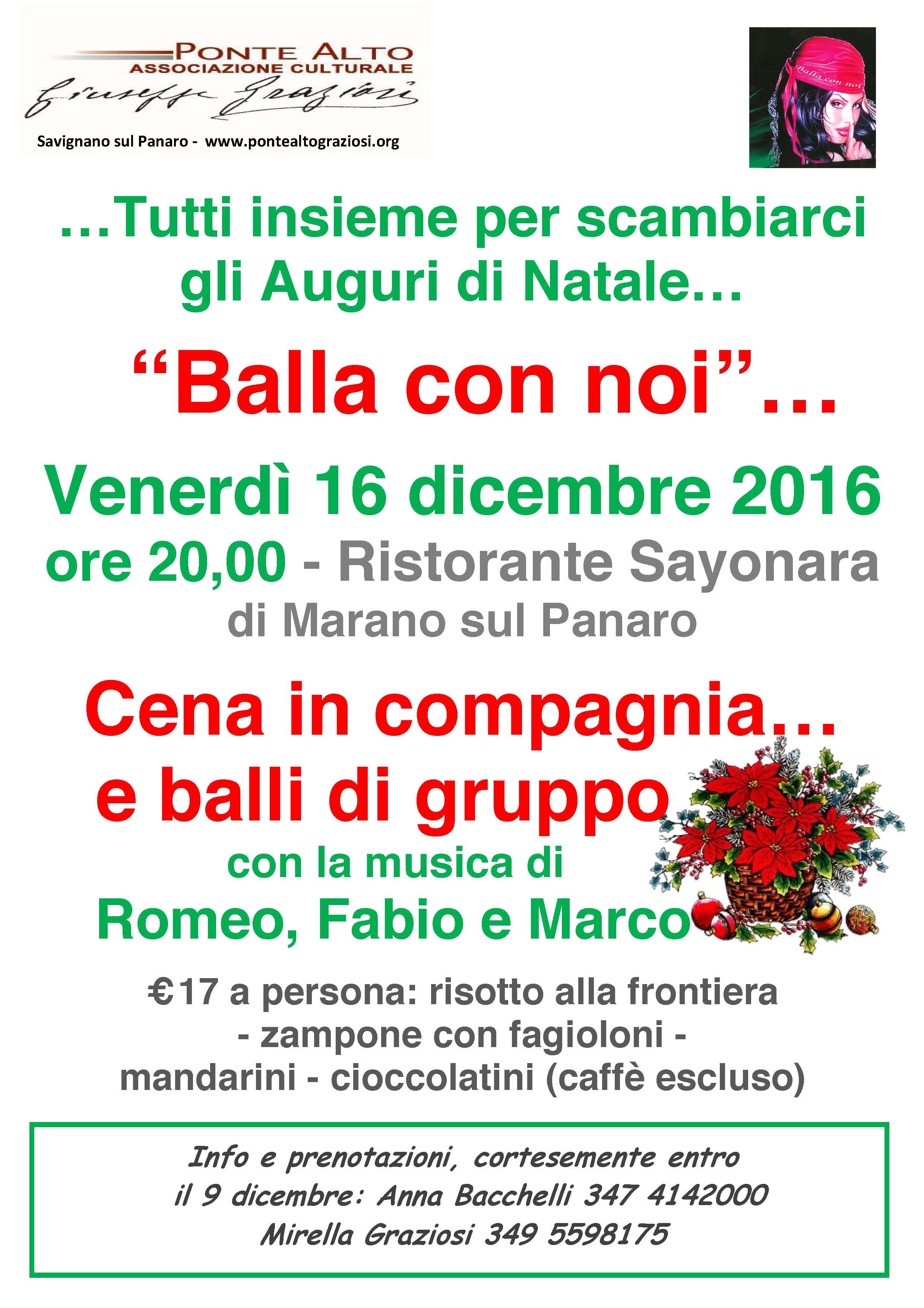 Scambio Auguri Di Natale.Balla Con Noi Tutti Insieme Per Lo Scambio Degli Auguri Di Natale Ponte Alto Giuseppe Graziosi